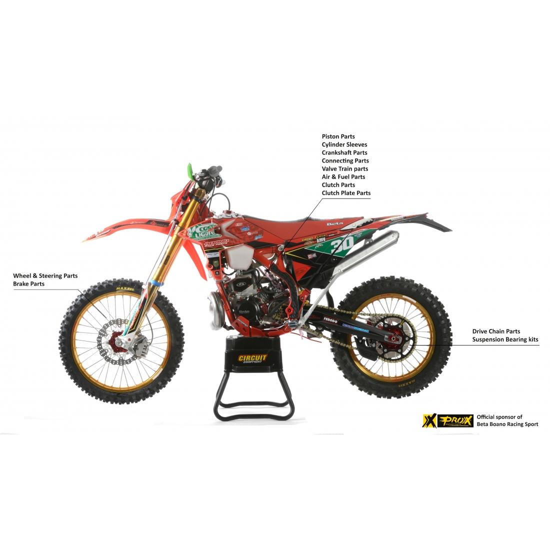 Linea completa di ricambi ad alte prestazioni di ProX Racing Parts per moto Beta 2019