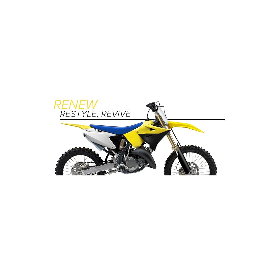 Nuovi kit Restyling 2019 per Suzuki RM 125 / 250 2T da Polisport
