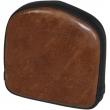 SADDLEMEN 040841 SISSY BAR PAD RENEGADE LARIAT SHORT REAR VINYL PLAIN BROWN | BLACK