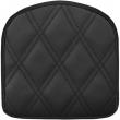 SADDLEMEN 040843 SISSY BAR PAD EXPLORER LS REAR VINYL PLAIN BLACK